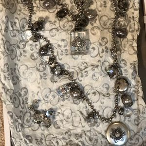 Jewelry - necklace and earring set in antique silver